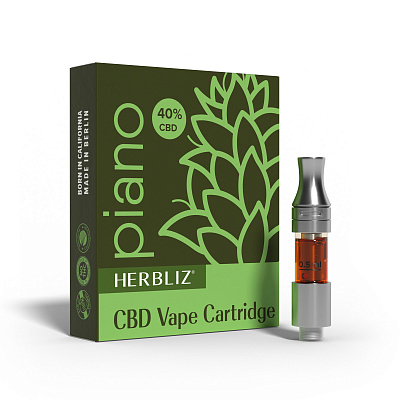 HERBLIZ Piano CBD Oil Vape Cartridge 40%
