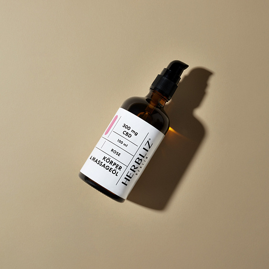 HERBLIZ Rose CBD Massage Oil | HERBLIZ - Photo 3