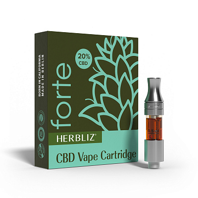HERBLIZ Forte CBD Oil Vape Cartridge 20%