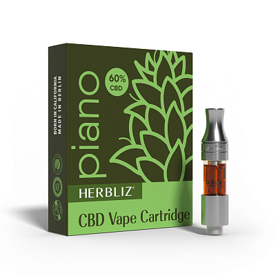HERBLIZ Piano CBD Oil Vape Cartridge 60%